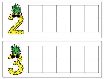 Pineapple Ten Frames