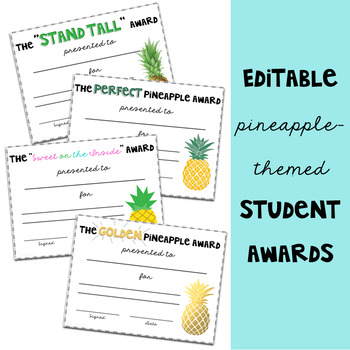 Pineapple Theme: Awards and Incentives Set