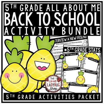 Pineapple Theme Back To School Activities 5th Grade All About Me Poster