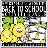 Pineapple Theme Back To School Activities 5th Grade All Ab