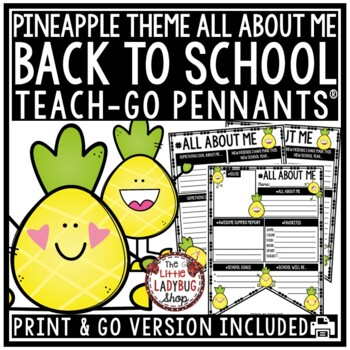 All About Me Pineapple Theme Back to School Writing First Day of School Activity