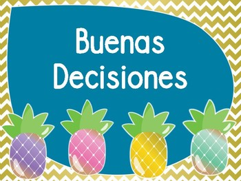 Pineapple Theme Behavior Chart (Spanish)