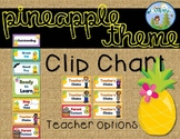 Pineapple Theme Behavior Clip Chart