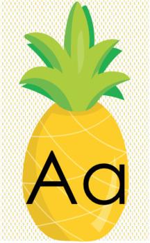 Pineapple Theme Bundle - Alphabet, Number, 10-Frame, Classroom Jobs