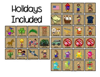 Pineapple Theme Calendar