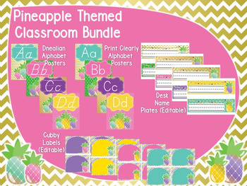 Pineapple Theme Classroom Bundle Pack