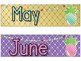 Pineapple Theme Classroom Calendar Headers and Numbers