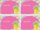 Pineapple Theme Classroom Cubby Labels (Editable)