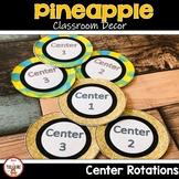 Pineapple Theme Classroom Decor- Center Rotation Signs (EDITABLE)
