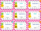Pineapple Theme Classroom Decor Punch Cards