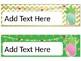 Pineapple Theme Classroom Desk Name Plates Blank (editable)