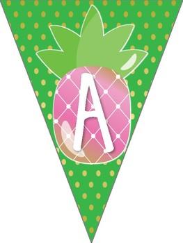 Pineapple Theme Classroom Happy Birthday Banner