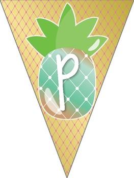 Pineapple Theme Classroom Happy Birthday Banner by Rachel ...