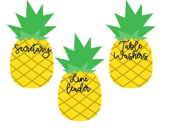 Pineapple Theme Classroom Jobs *Editable!!*