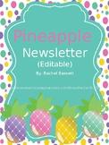 Pineapple Theme Classroom Newsletter (Editable)