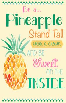 Pineapple Theme Classroom Poster