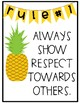 Pineapple Theme Classroom Rules