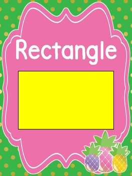 Pineapple Theme Classroom Shape Posters
