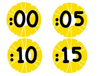 Pineapple Theme Clock Numbers