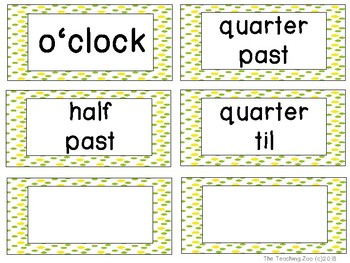 Pineapple Theme Clock Tags & Labels
