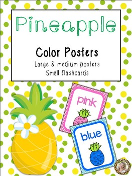 Pineapple Theme Color Identification Posters