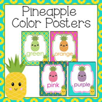 Pineapple Theme Color Posters