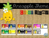 Pineapple Theme Color Signs