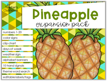 Pineapple Theme Decor {Expansion Pack}