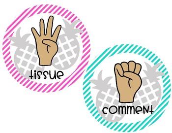 Pineapple Theme Hand Signals