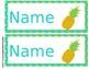 Pineapple Theme Name Tags *Editable!!*