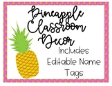 Pineapple Theme Name Tags *Editable!!*
