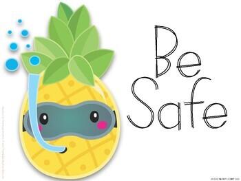 Pineapple Theme PBIS Posters