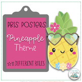 Pineapple Theme PBIS Posters