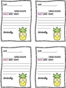 Positive Notes Pineapple Theme