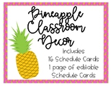 Pineapple Theme Schedule Cards *Editable!!*