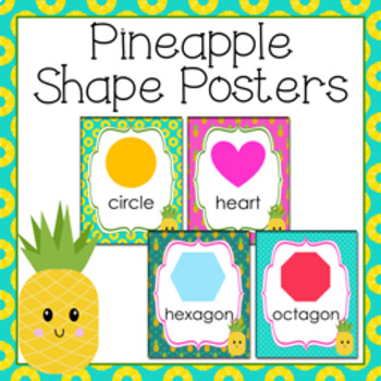 Pineapple Theme Shape Posters