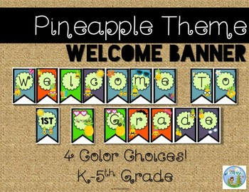 Pineapple Theme Welcome Banner