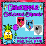 Classroom Decor : Pineapple Theme Welcome Banner