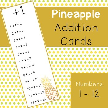 Pineapple Themed Addition Cards
