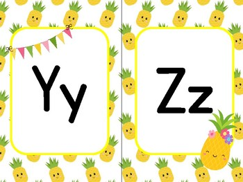 Pineapple Themed Alphabet Posters