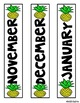 Pineapple Themed Binder Labels EDITABLE
