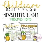 Pineapple Themed Childcare Daily Reports with Matching New