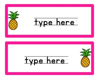 Pineapple Themed Classroom Decor Pack (COLORFUL)