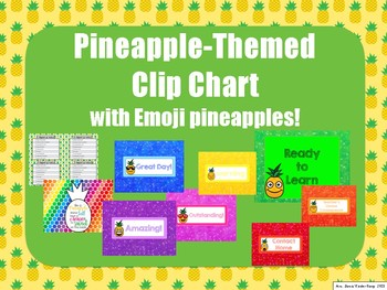 Pineapple-Themed Clip Chart