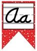 Red and Black Themed Cursive Alphabet Banner - Cursive Handwriting