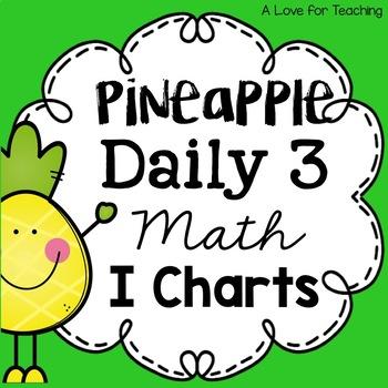 Pineapple Themed Daily 3 Math I Charts {Editable}