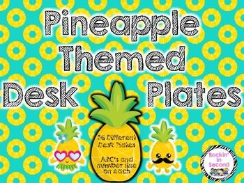 Pineapple Themed Desk Plates