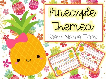 Pineapple Themed Desk Tags