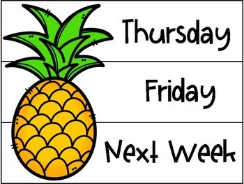 Pineapple Themed Drawer Labels