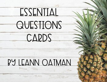 Pineapple Themed Essential Question Posters